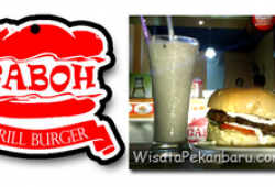 Burger Gaboh, kuliner Lezat Dengan Porsi Gaboh