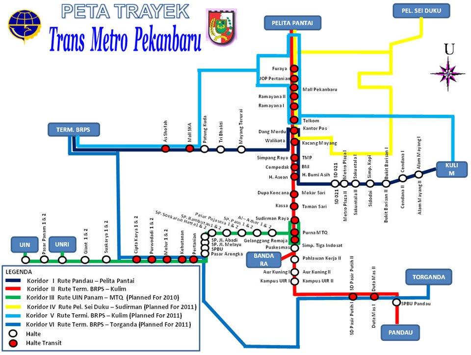 Rute Transmetro Pekanbaru